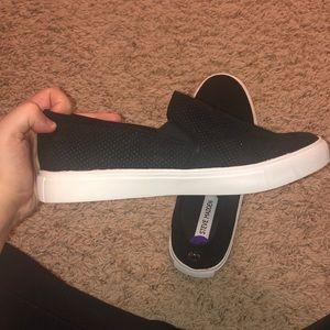 Shoes - Suede Steve Madden black slip on shoes